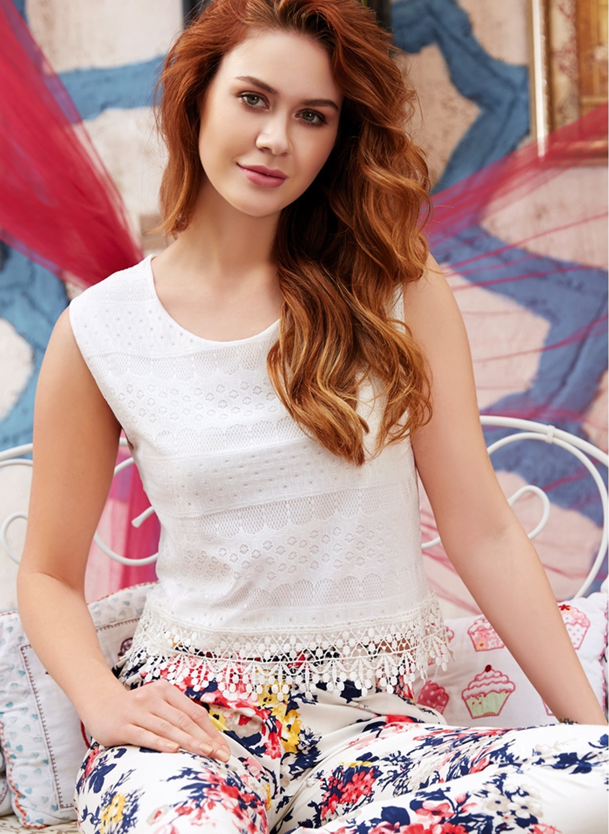 Anıl Kadın T-shirt Pijama Takım Man9533 Kadın T-shirt – 122.9 TL